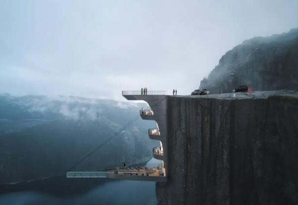 Архитектите дизајнираат хотел што ќе се гради во норвешки фјорд