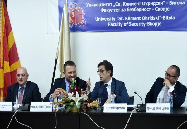 Посета на претседателот Стево Пендаровски на Факултетот за безбедност - Скопје при УКЛО
