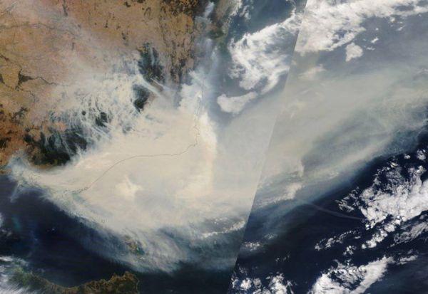 НАСА: Чадот од пожарите во Австралија ќе направи круг околу целиот свет