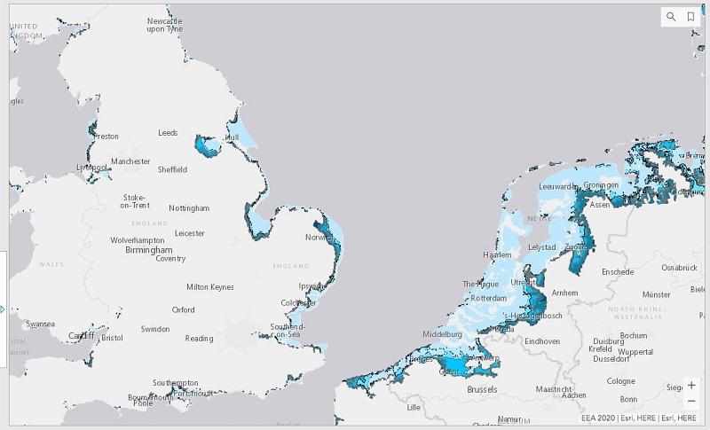 Пожари и поплави - мапи од Европа предвидуваат климатски катастрофи