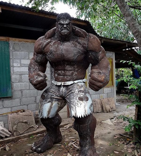 Неверојатни скулптури направени од метален отпад