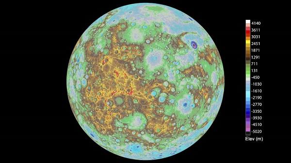 Како изгледа топографската карта на Меркур?