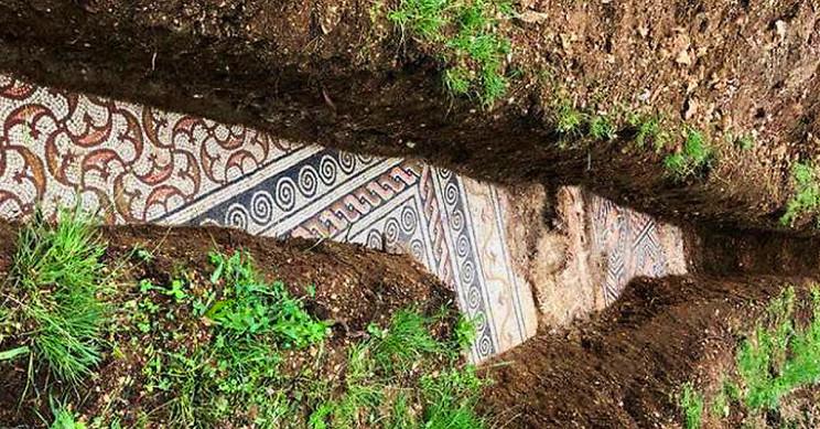 Прекрасен римски мозаик пронајден недопрен под лозје во Италија
