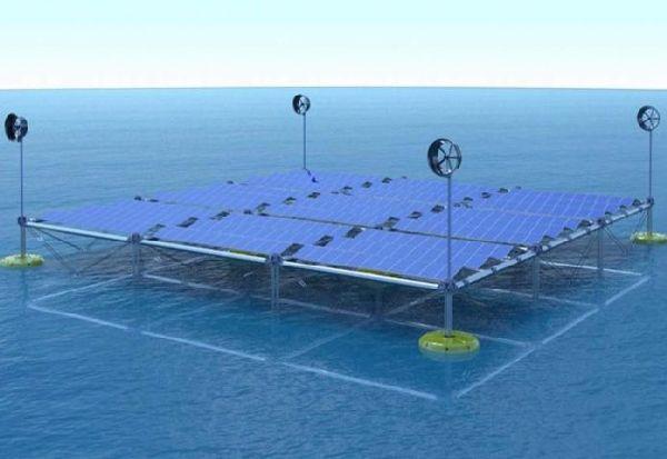 Првата хибридна пловечка океанска платформа може да генерира електрична енергија од бранови, ветер и сонцето