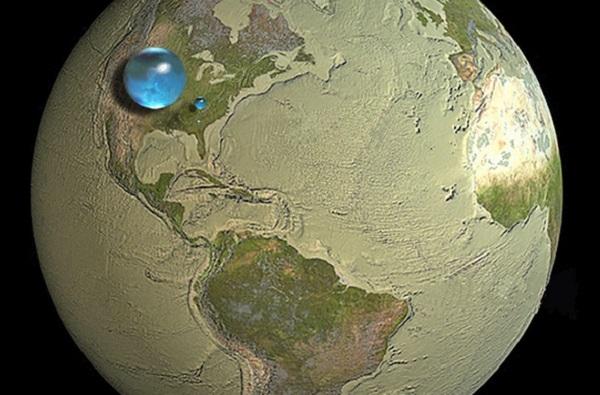 Вака изгледа целата вода на светот собрана во една сфера