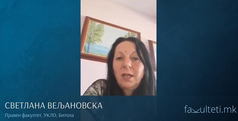 ВИДЕО - Големо признание е кога студентите ќе кажат дека сте им омилен професор, вели професорката Светлана Вељановска