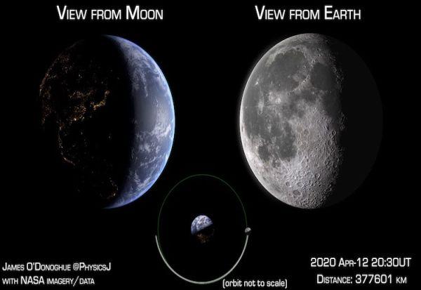 Како би изгледала Земјата гледана од Месечината?