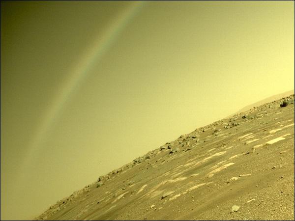 НАСА објави фотографија од феномен што наликува на виножито на Марс