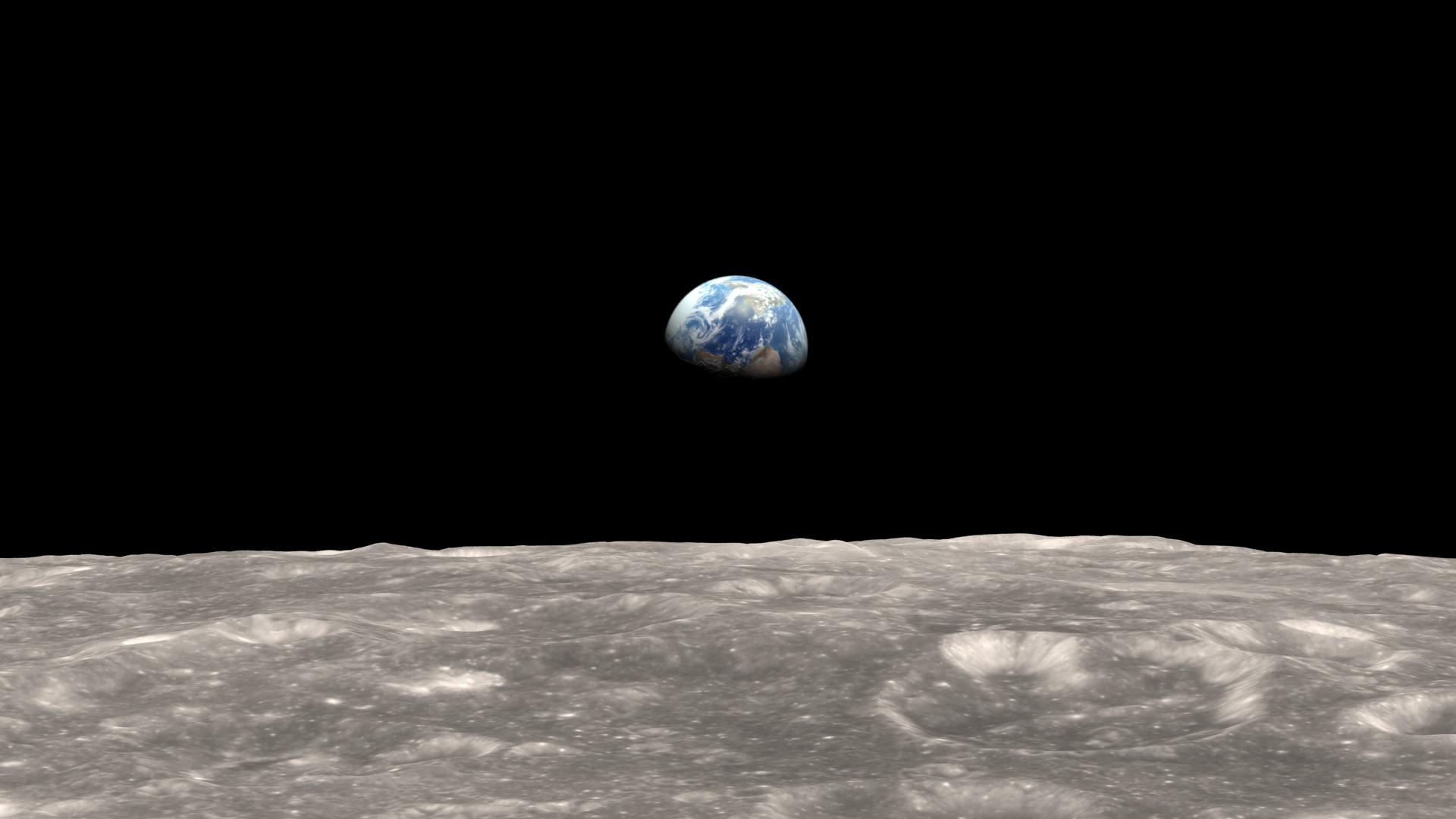 """Неверојатно видео од """"изгревање"""" на Земјата гледано од Месечината"""