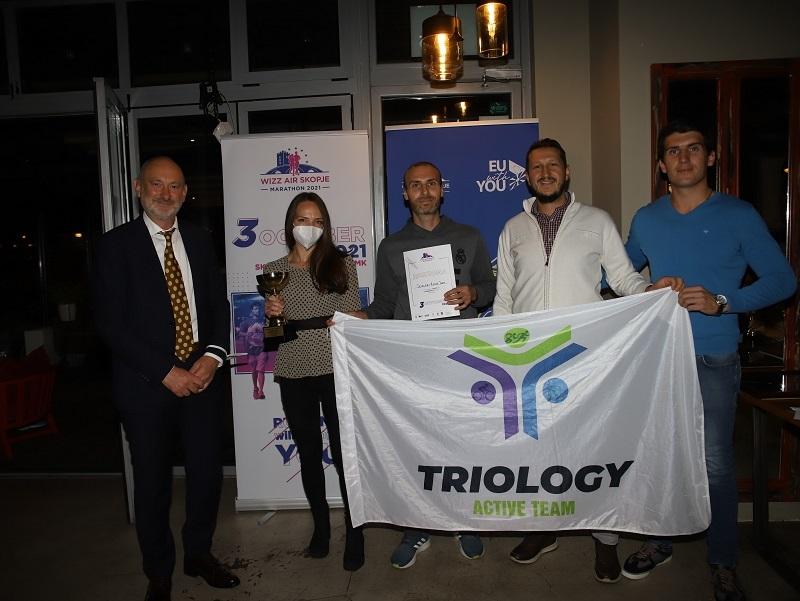 Виз ер Скопски маратон ги додели наградите за тим-билдинг трката и штафетниот маратон – ЕУ за спорт